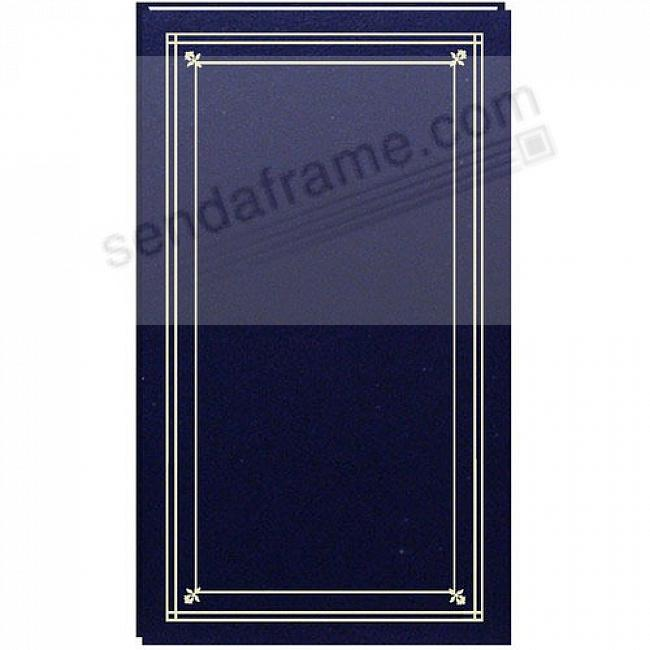 SLIMLINE Post-Bound Navy-Blue fold-out 4x6 pocket page album