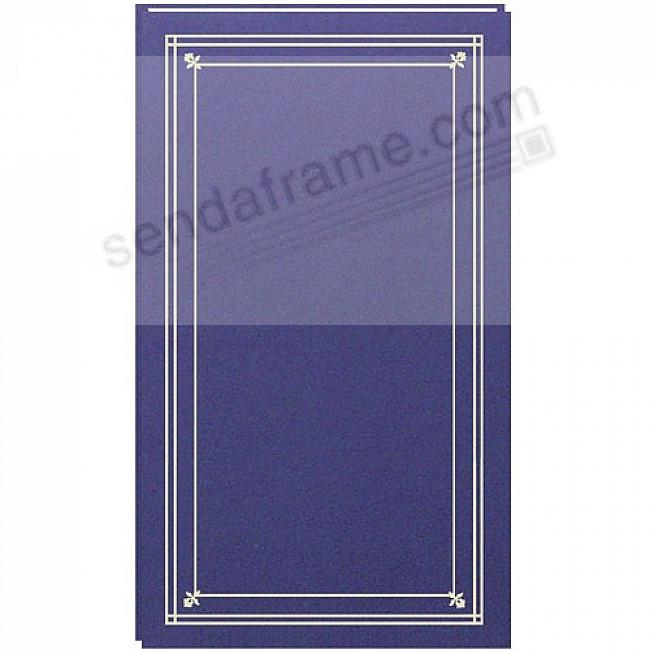 SLIMLINE Post-Bound Bay-Blue fold-out 4x6 pocket page album