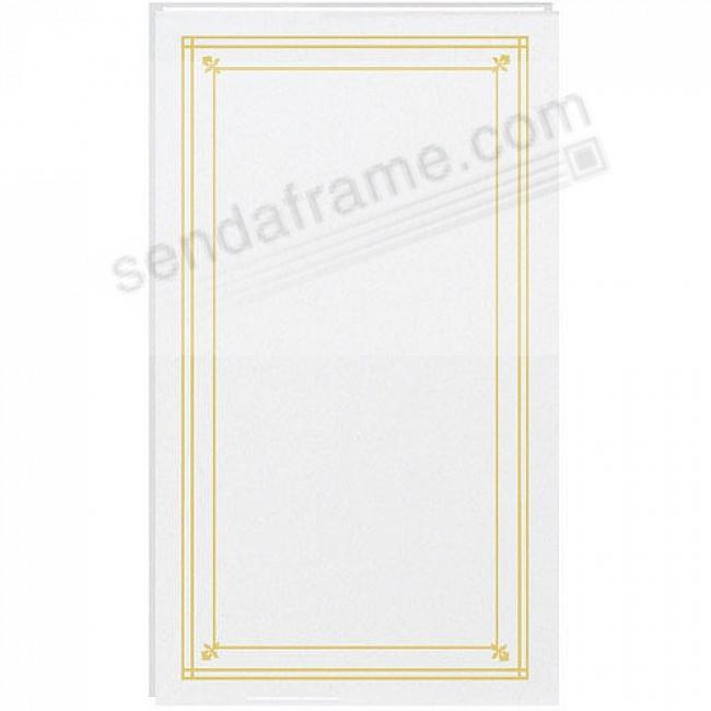 SLIMLINE Post-Bound Bright-White fold-out pocket page album