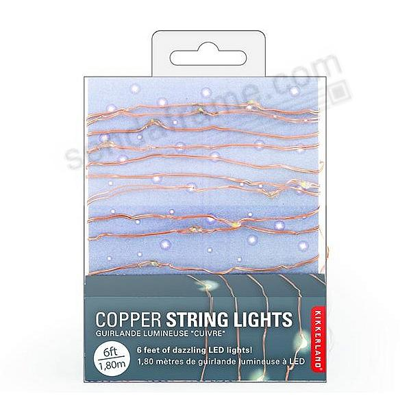 COPPER STRING LIGHTS - EXTRA LONG - by Kikkerland®