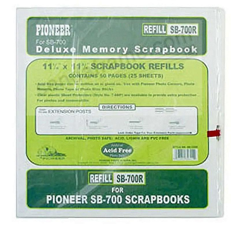 Genuine Pioneer® Scrapbook #SB700R Refill Pages