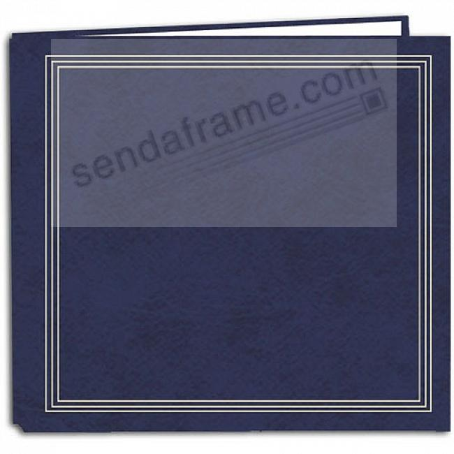 NAVY-BLUE TRADITIONAL SCRAPBOOK Paper Page Album by Pioneer®