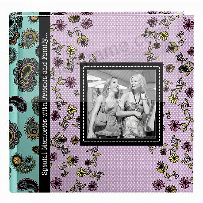 PAISLEY 2-up photo album with raised cover frame by Pioneer®