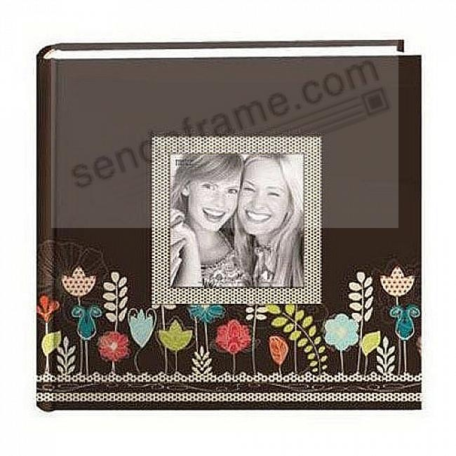 GARDEN 2-up photo album with raised cover frame by Pioneer®