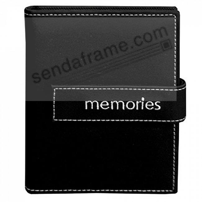 BLACK MEMORIES Embroidered Brag Book Album for 208 photos by Pioneer®