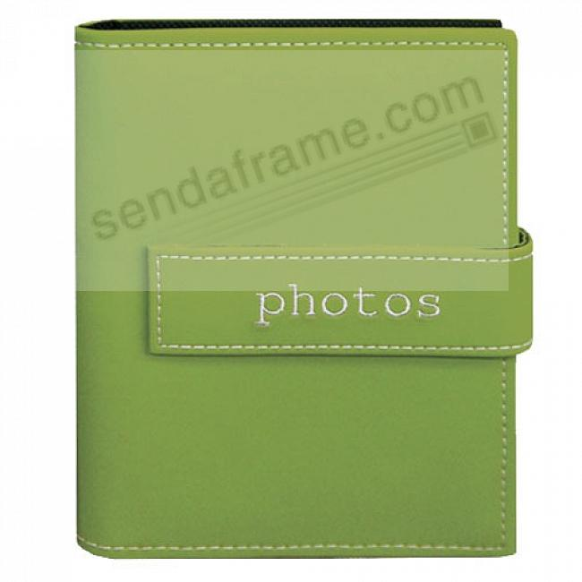 SAGE PHOTOS Embroidered Brag Book Album for 208 photos by Pioneer®