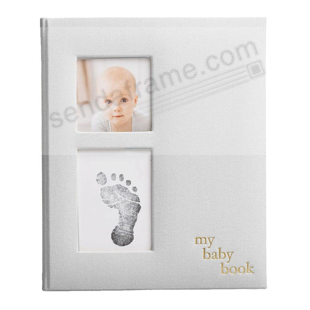 Gray Linen Baby Memory Album w/Clean-Touch Ink Pad by Pearhead®