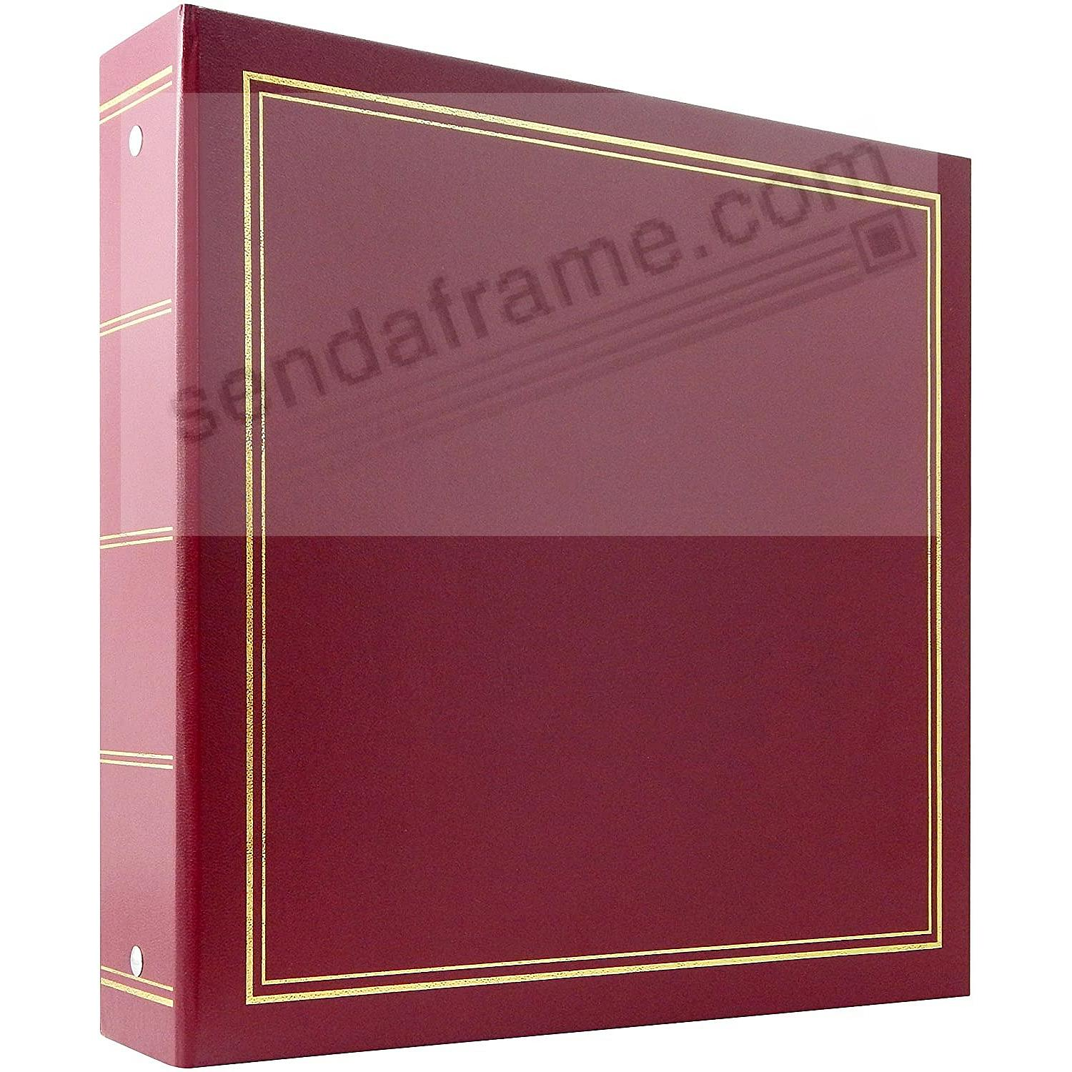 BURGUNDY 3-Ring / 4x6 Bi-Directional 400 Pocket Album by MBI®
