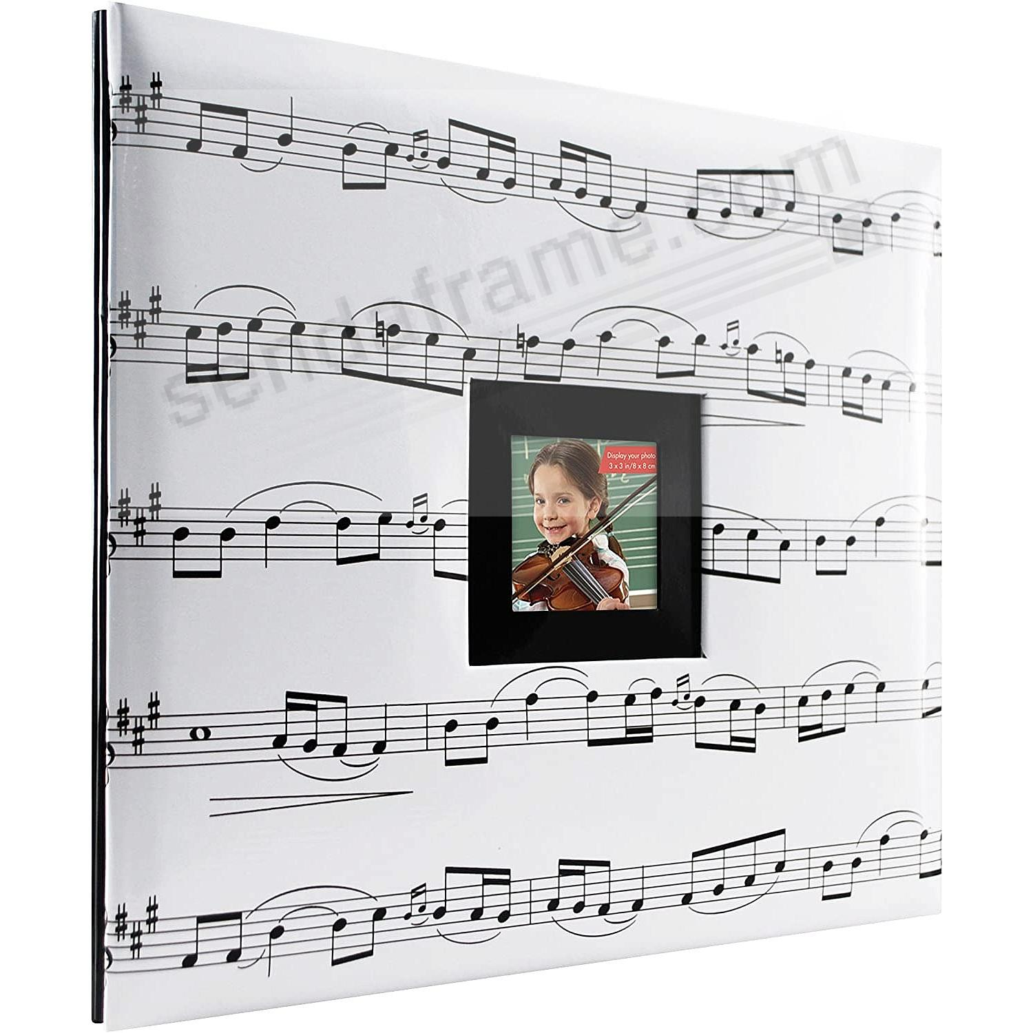 SHEET MUSIC Theme Post-Bound Album w/12x12 pocket pages
