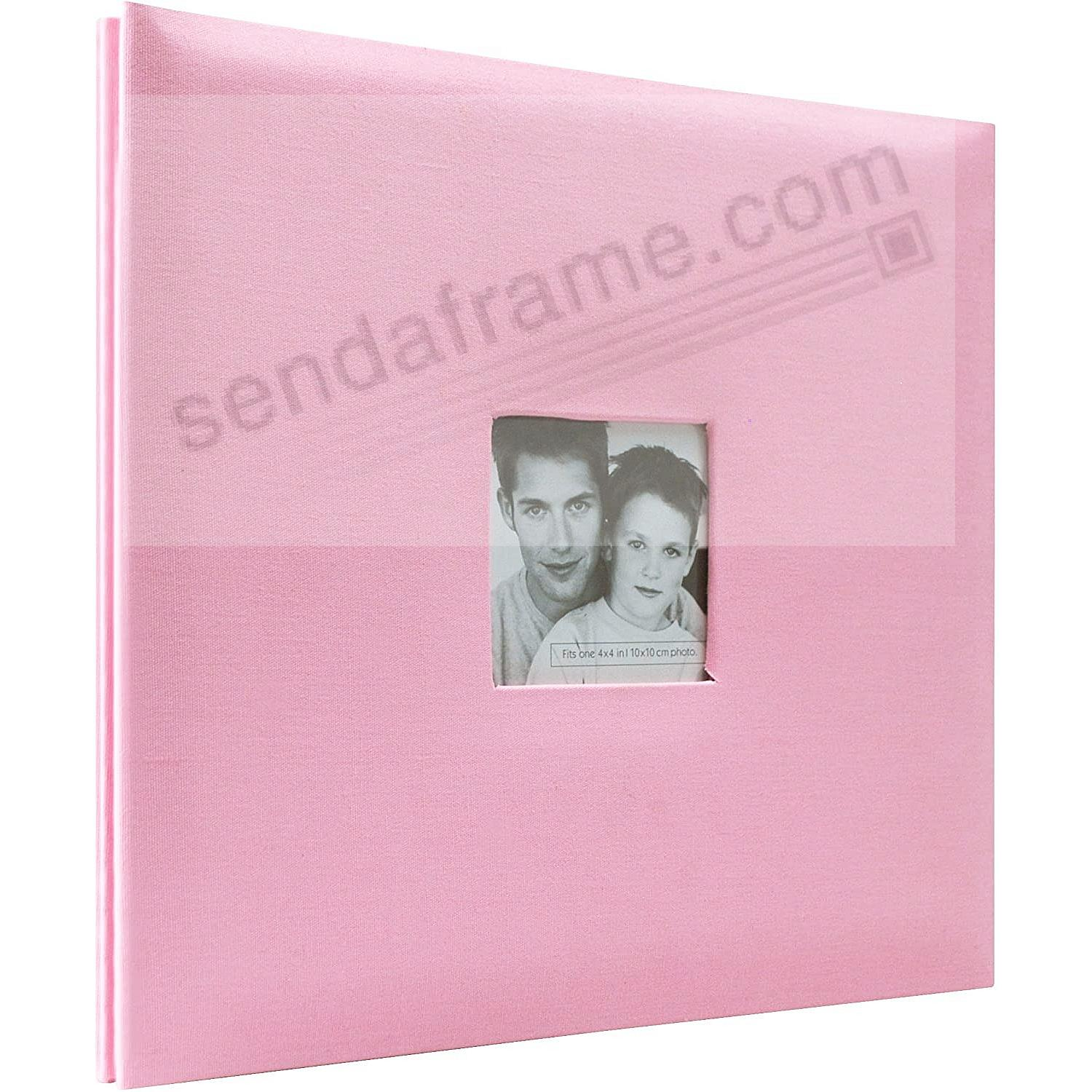 Pink Fabric Post-Bound Album w/12x12 pocket pages