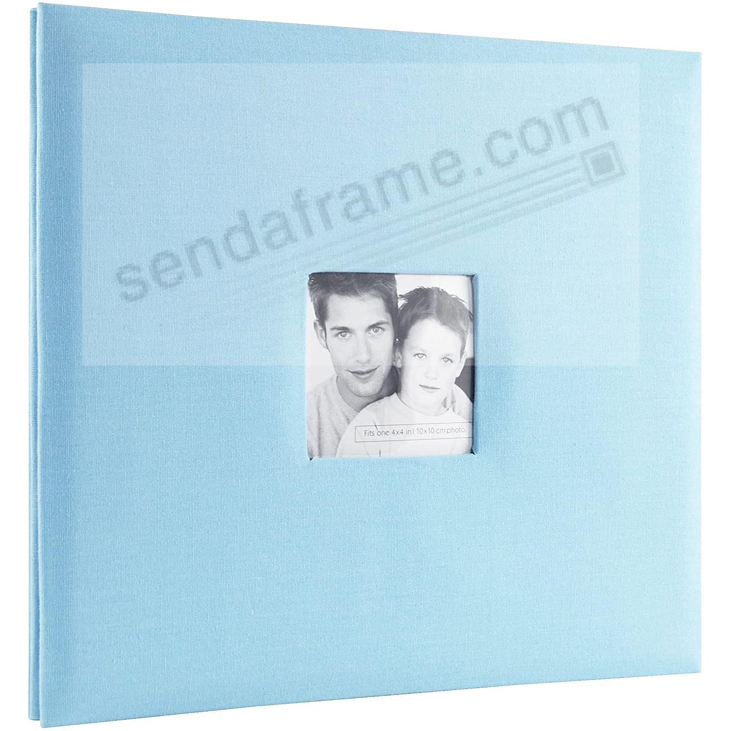 SKY-BLUE Fabric Post-Bound Album w/12x12 pocket pages