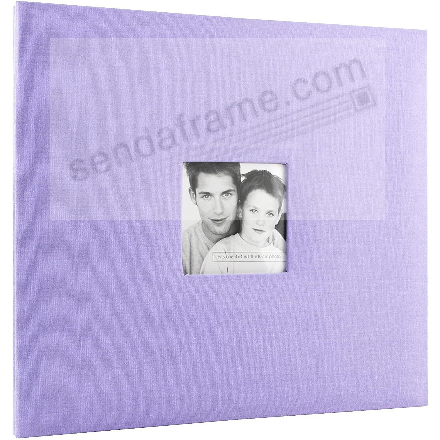 LILAC Fabric Post-Bound Album w/12x12 pocket pages