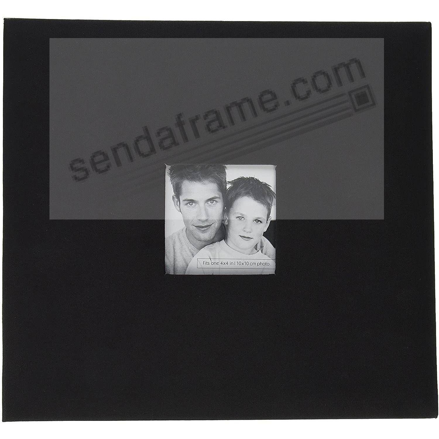 BLACK Fabric Post-Bound Album w/12x12 pocket pages