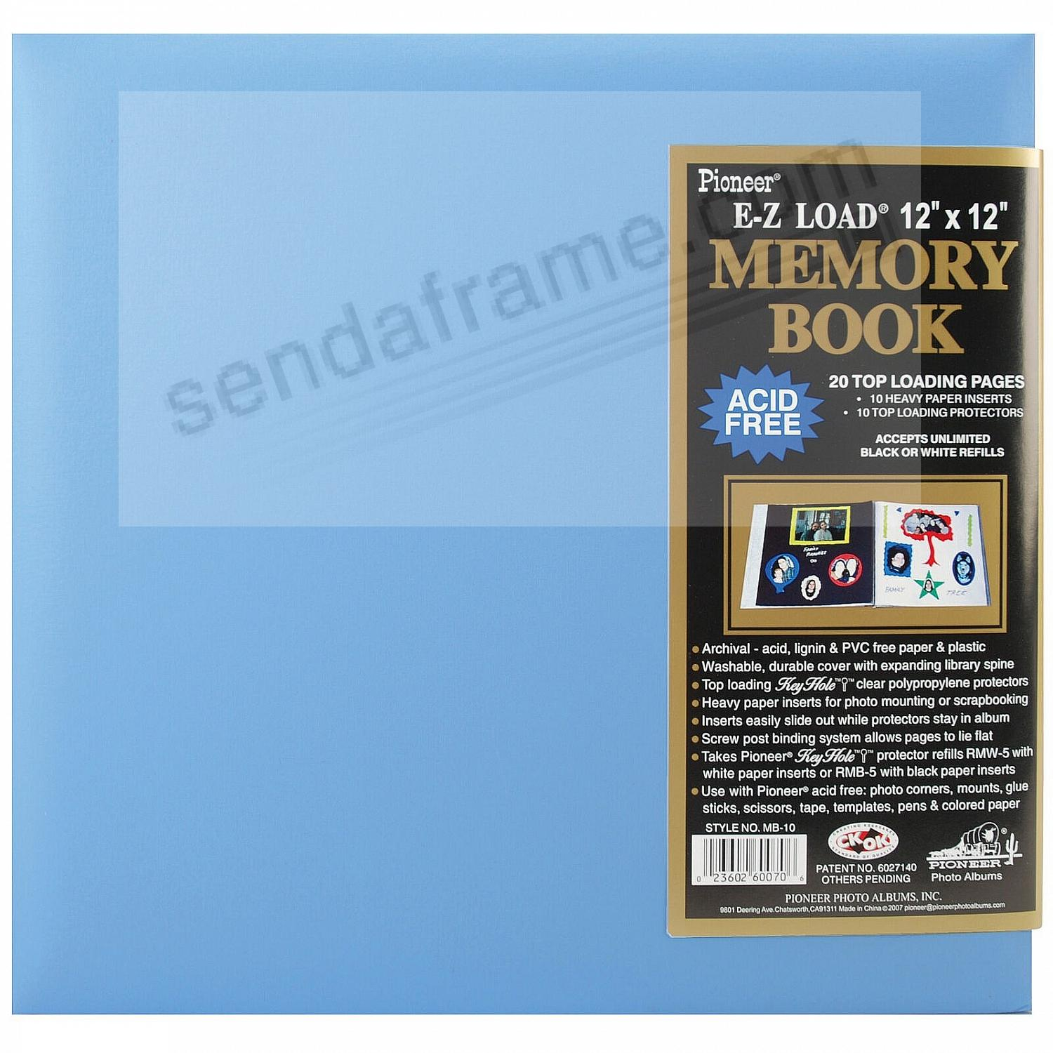BABY-BLUE 12x12 Leatherette Scrapbook album by Pioneer®