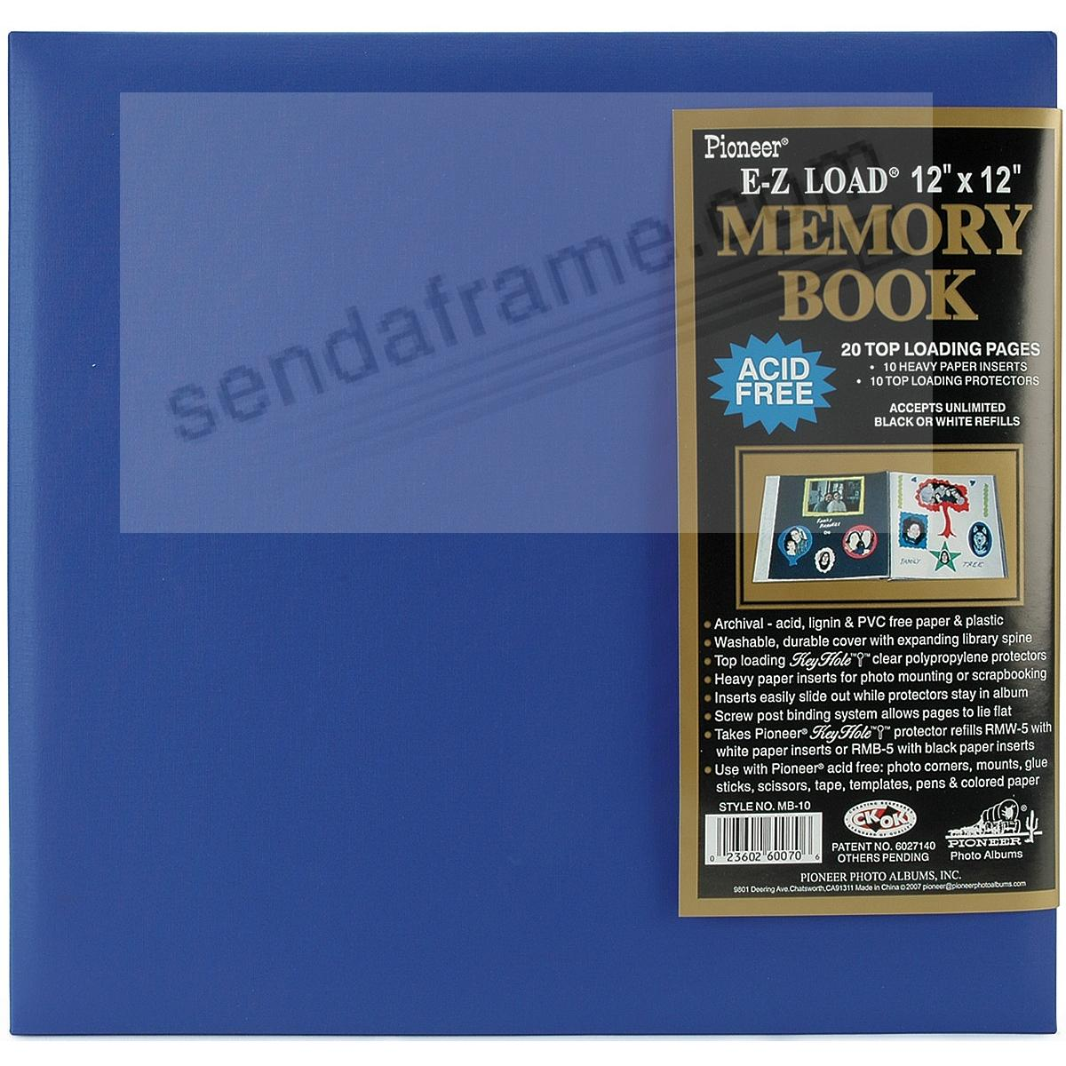 Sea-Blue 12x12 Leatherette Scrapbook album by Pioneer®