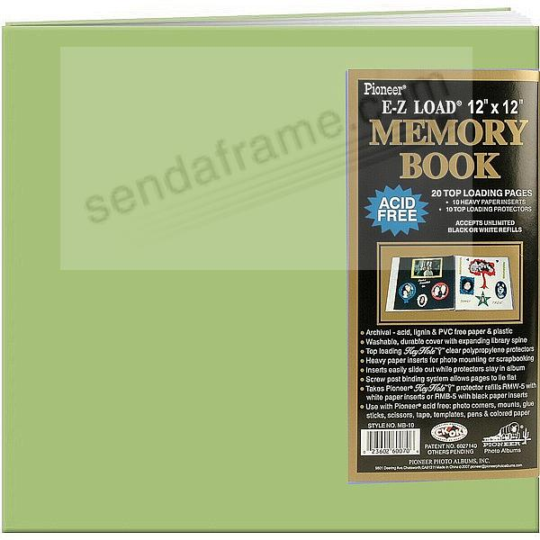Pear-Green 12x12 Leatherette Scrapbook album by Pioneer®