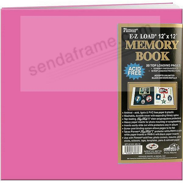 Hot-Pink 12x12 Leatherette Scrapbook album by Pioneer®
