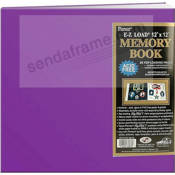 Orchid 12x12 Leatherette Scrapbook album by Pioneer®