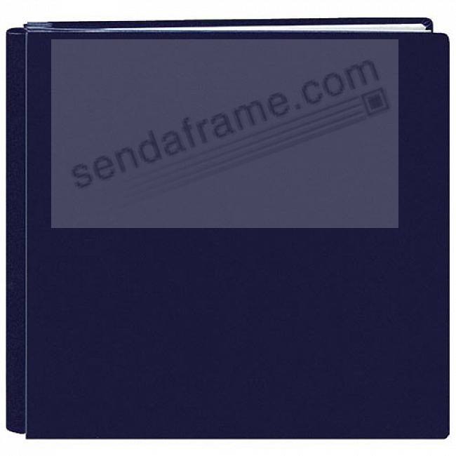 Bonded Leather 12x12 Navy-Blue FAMILY TREASURES MEMORY BOOK by Pioneer® - Huge Capacity!