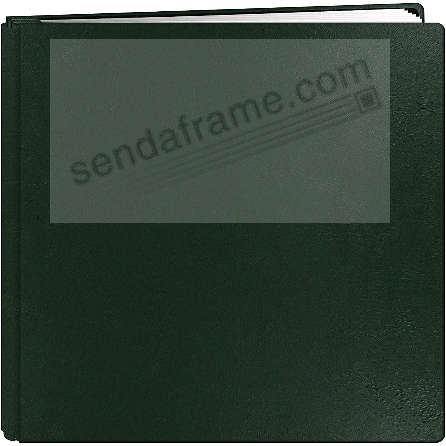Bonded Leather 12x12 Hunter-Green FAMILY TREASURES MEMORY BOOK by Pioneer® - Huge Capacity!