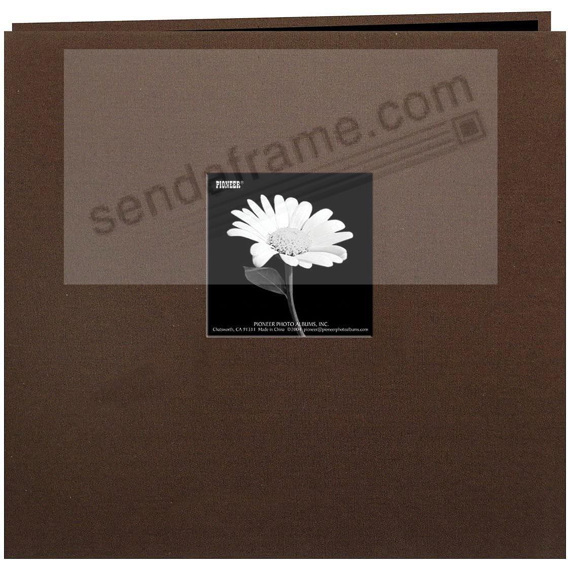 CHOCOLATE-BROWN 12x12 Cloth Scrapbook album by Pioneer®