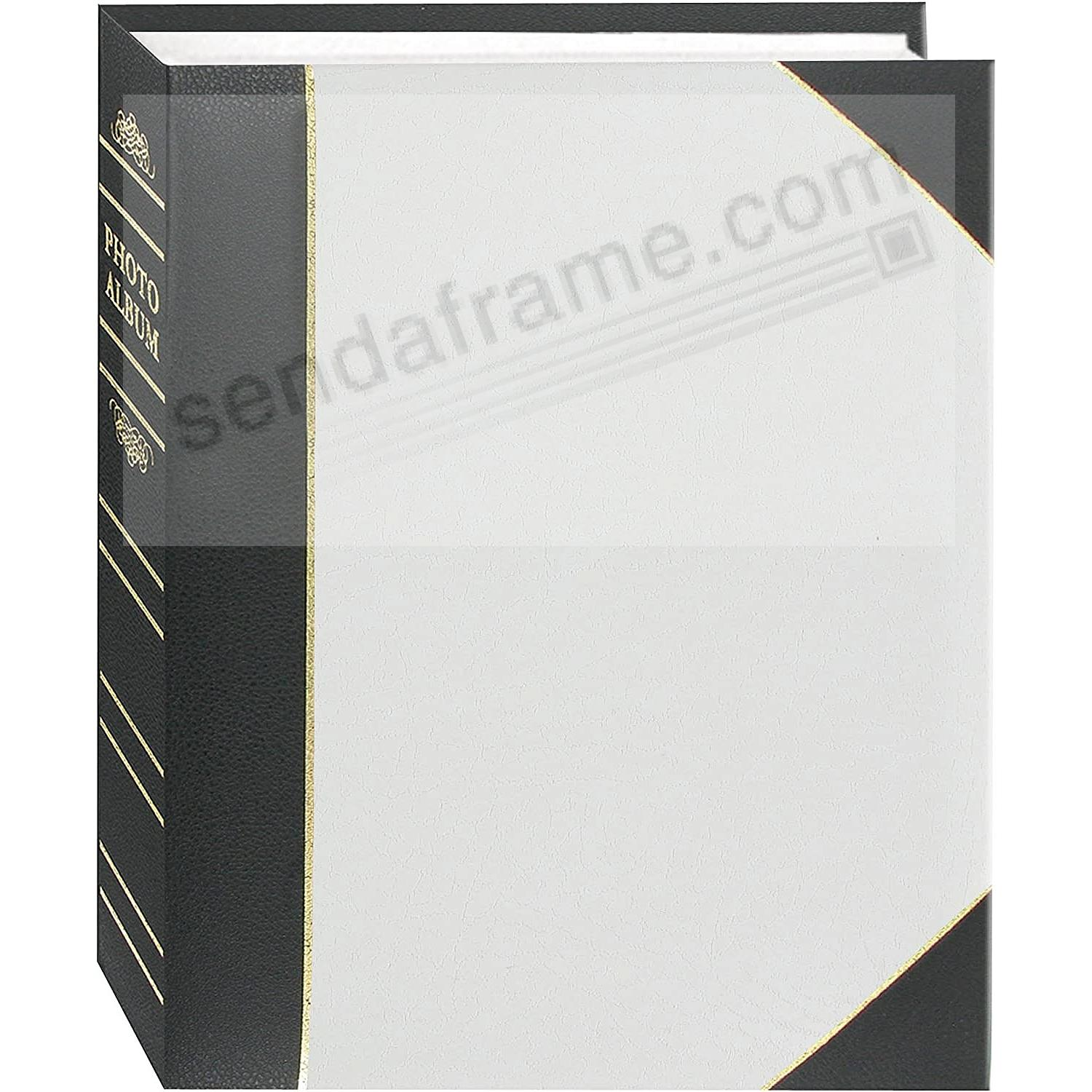 White LEDGER 4x6 200 Pocket Lé Memo Album by Pioneer®