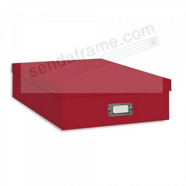 RED Archival XL STORAGE Photo Box by Pioneer®