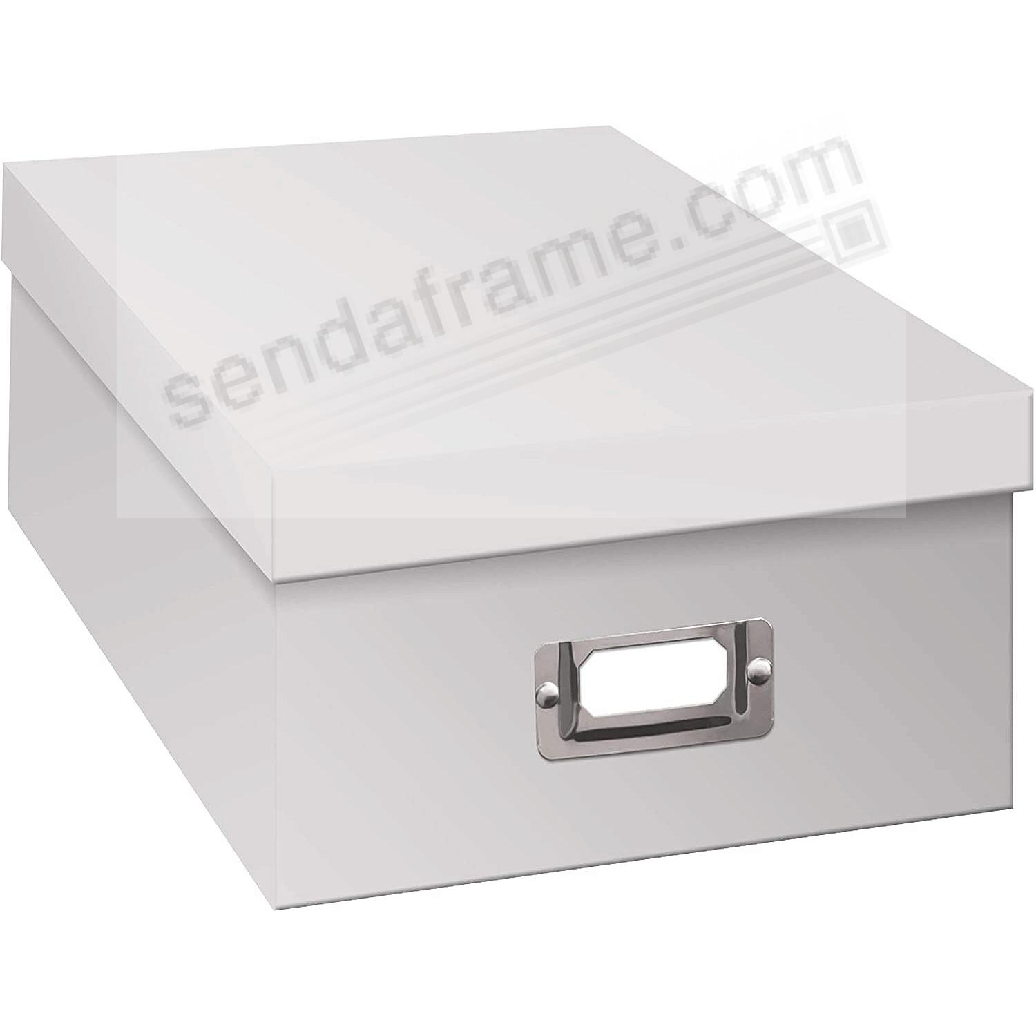 WHITE Archival STORAGE Photo Box by Pioneer®