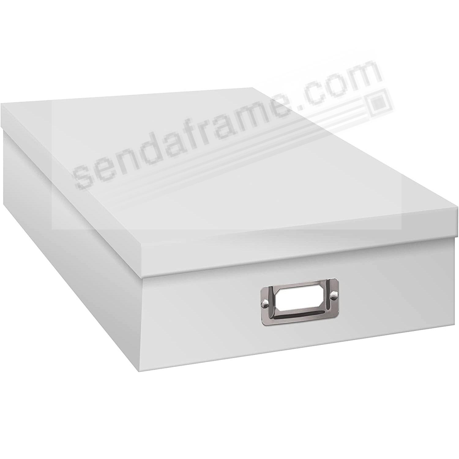 WHITE Archival XL STORAGE Photo Box by Pioneer®