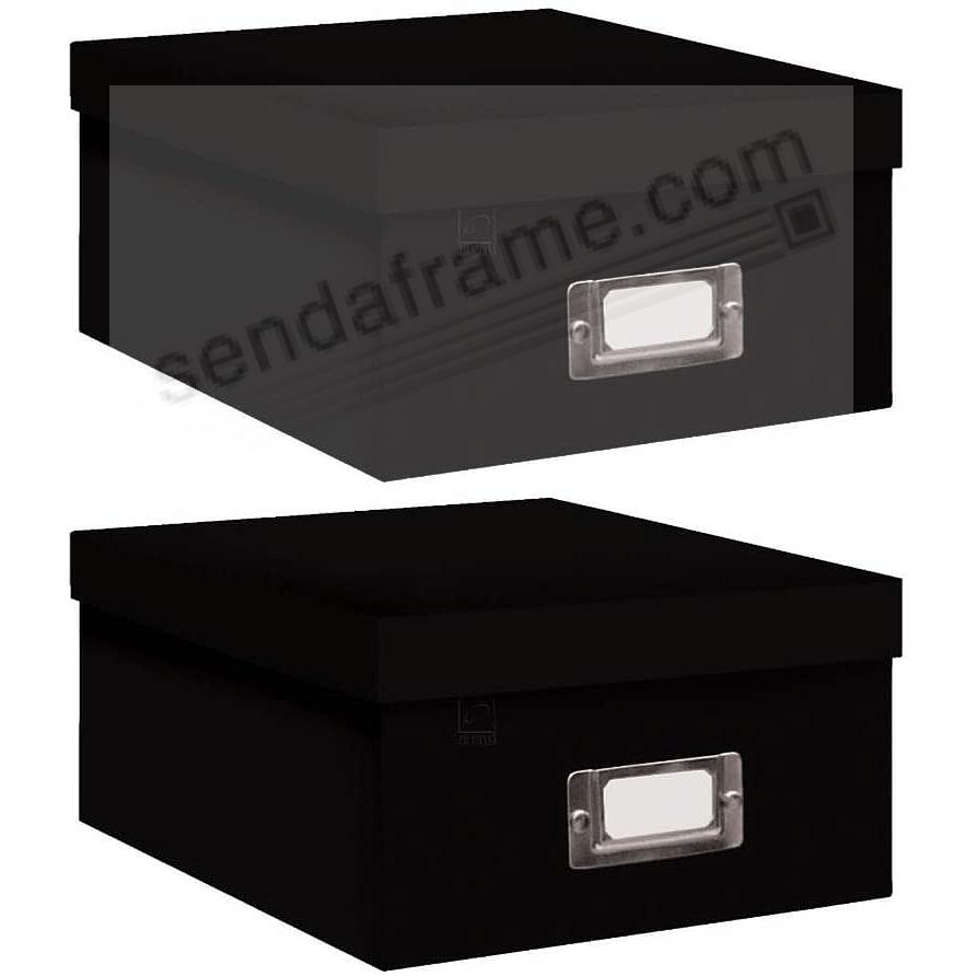 BLACK Archival STORAGE Photo Box by Pioneer® - Set of 2