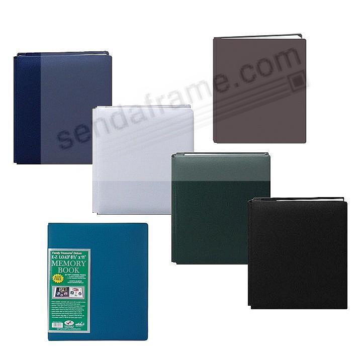 Assorted: BR-2/HG-2/NB-3/W-2/SB-1/BK-2 Fabric 8½x11 MEMORY BOOK by Pioneer® - Huge Capacity!