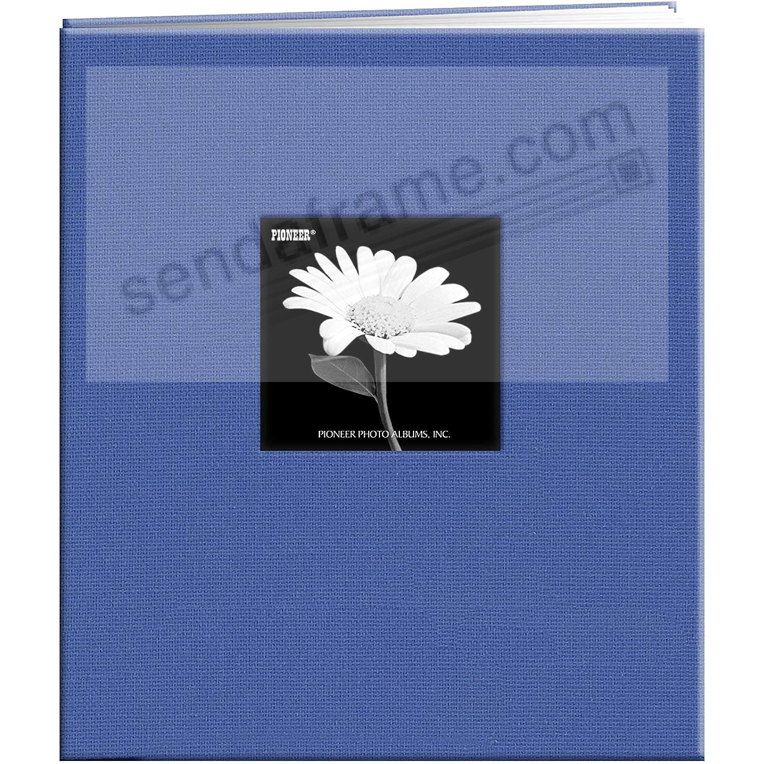 SKY-BLUE E-Z LOAD 8½x11 Fabric Frame Cover Scrapbook by Pioneer®