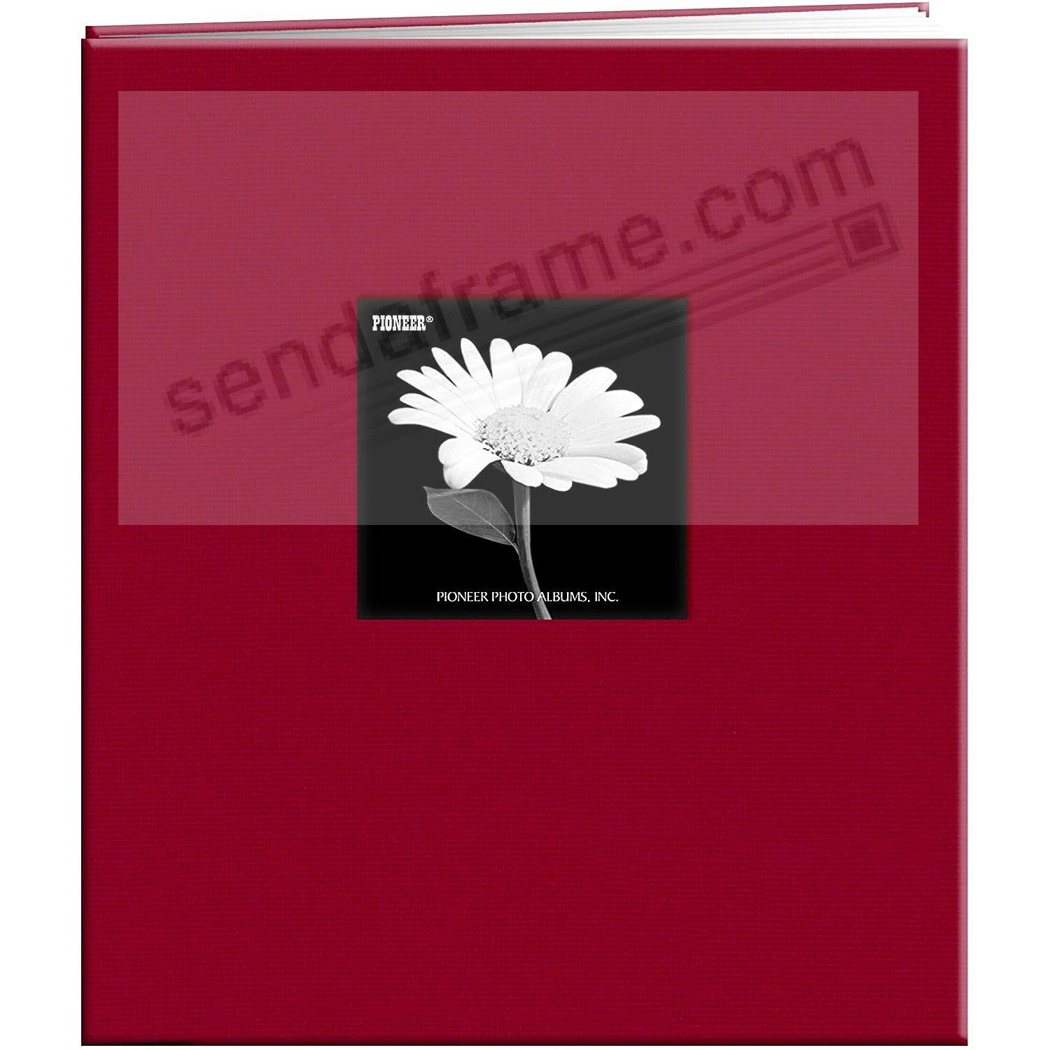 APPLE-RED E-Z LOAD 8½x11 Fabric Frame Cover Scrapbook by Pioneer®