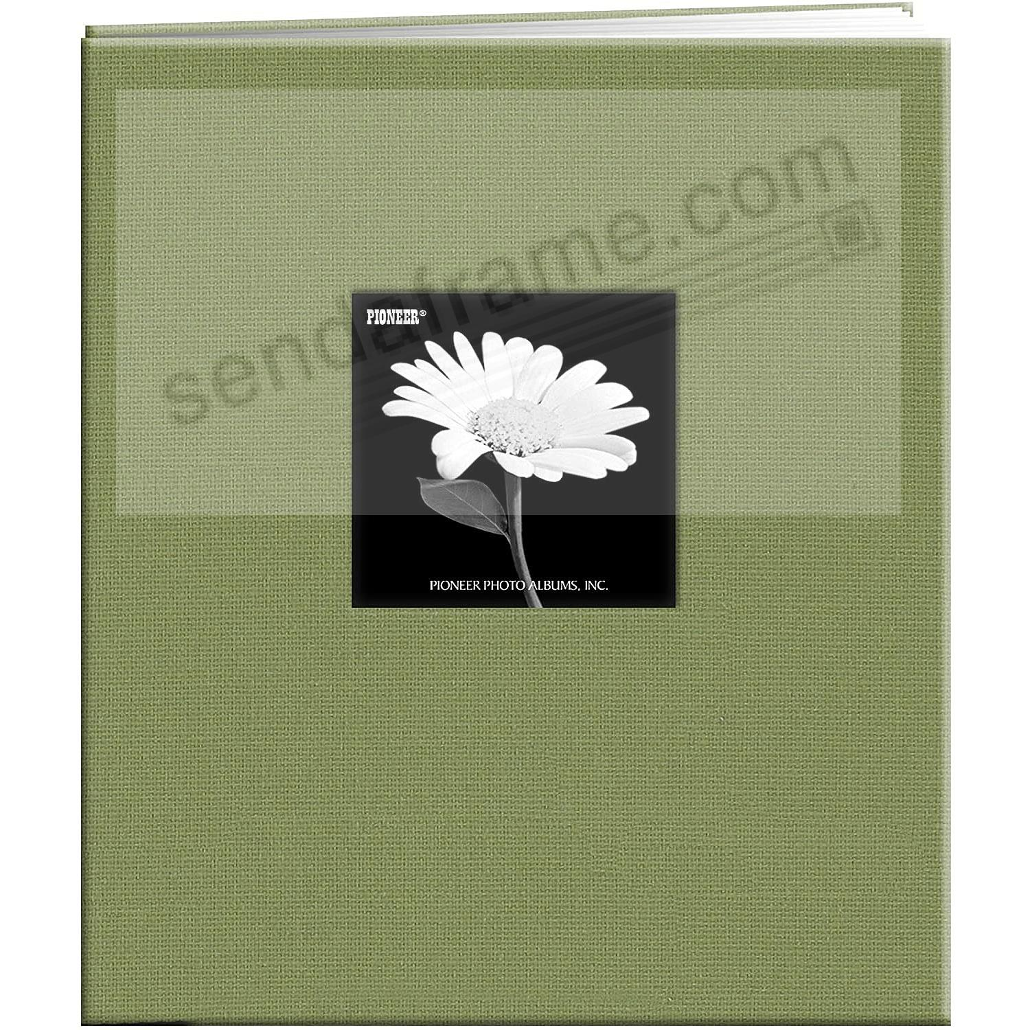 SAGE-GREEN E-Z LOAD 8½x11 Fabric Frame Cover Scrapbook by Pioneer®