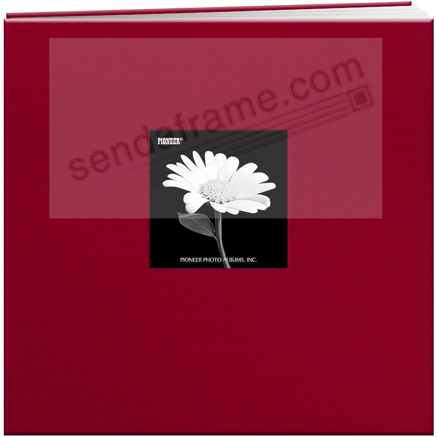APPLE-RED 12x12 Cloth Scrapbook album by Pioneer®