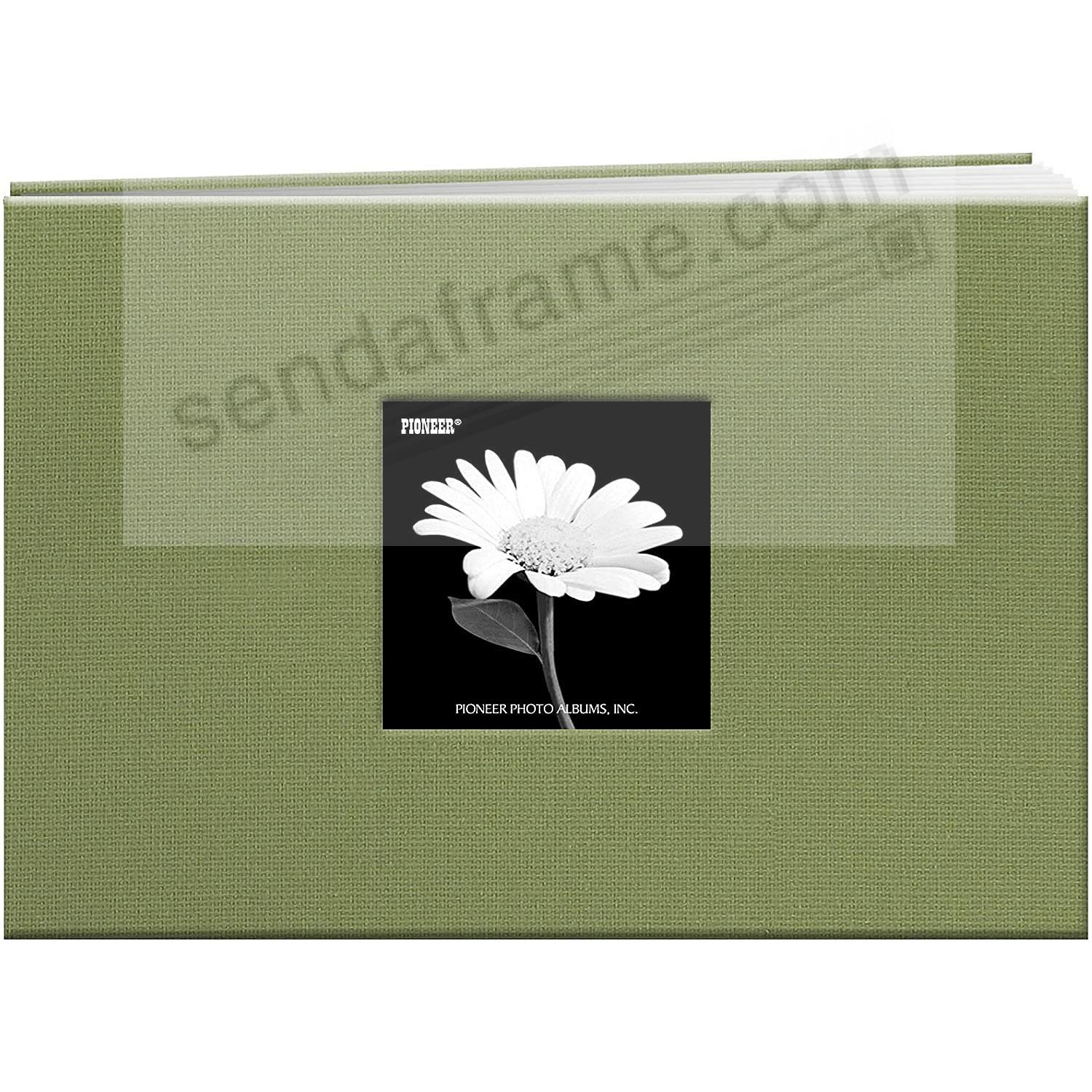 SAGE-GREEN Fabric Cover Scrapbook 7x5 album by Pioneer®