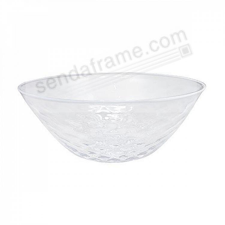 Pineapple Texture Large 10in Bowl White Rim by Mariposa®