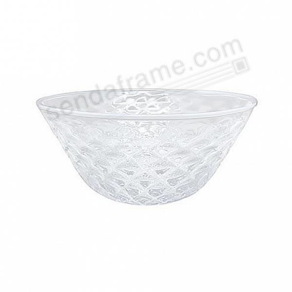 Pineapple Texture Small 6in Bowl White Rim by Mariposa®