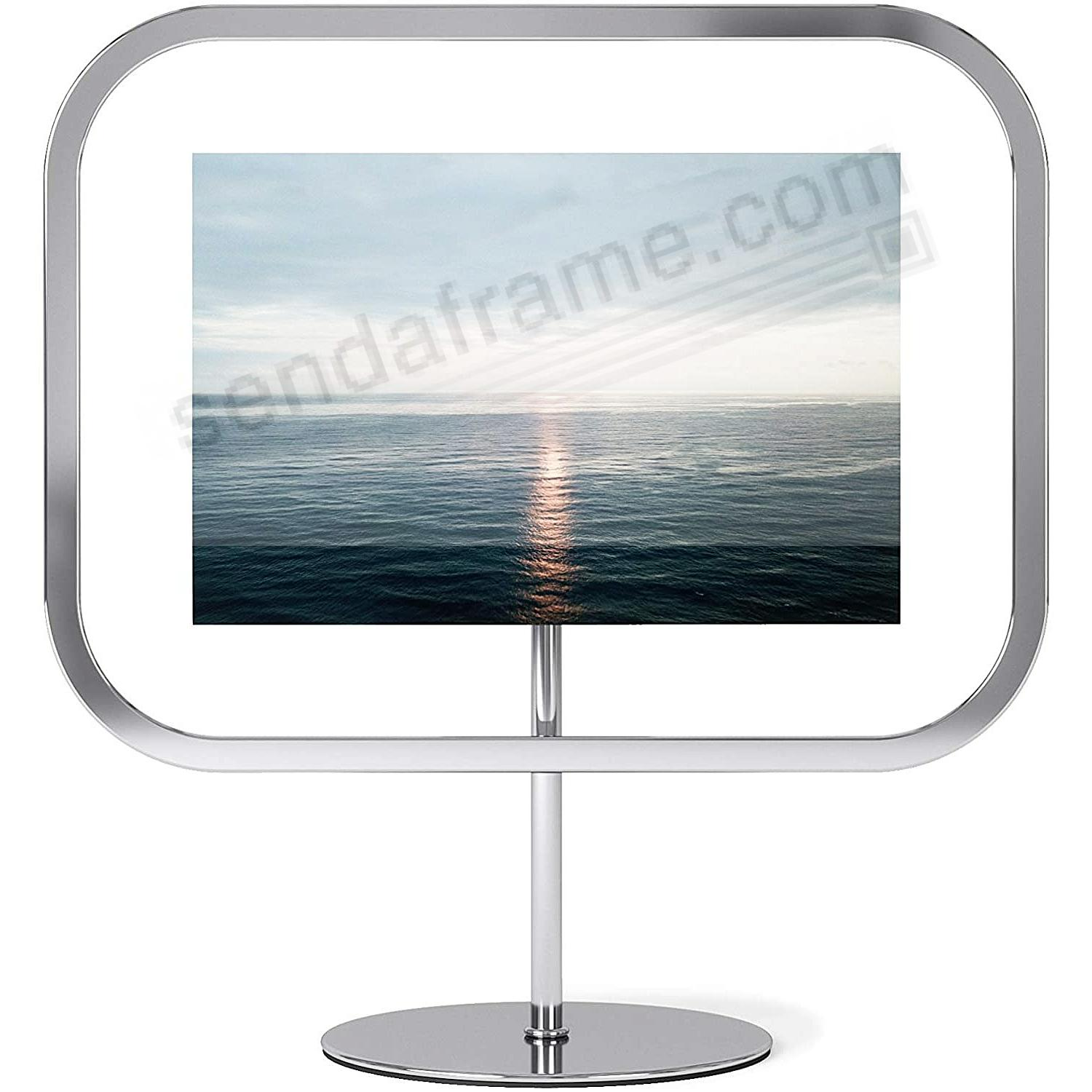 The INFINITY SQROUND Photo Display Chrome 4x6 frame by Umbra®