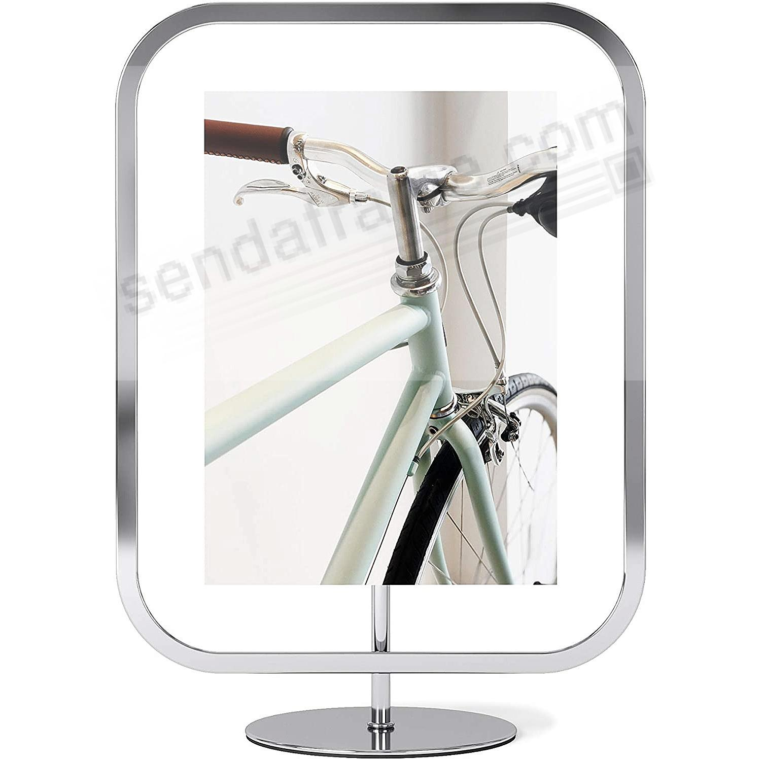 The INFINITY SQROUND Photo Display Chrome 5x7 frame by Umbra®