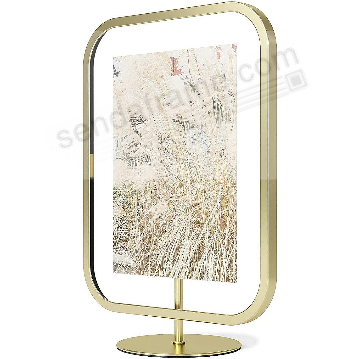 The INFINITY SQROUND Photo Display Brass 5x7 frame by Umbra®