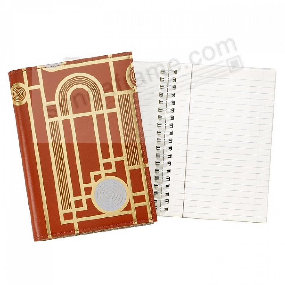 The Gateway Metropolis 7in Refillable Journal Red Vachetta Leather by Graphic Image™