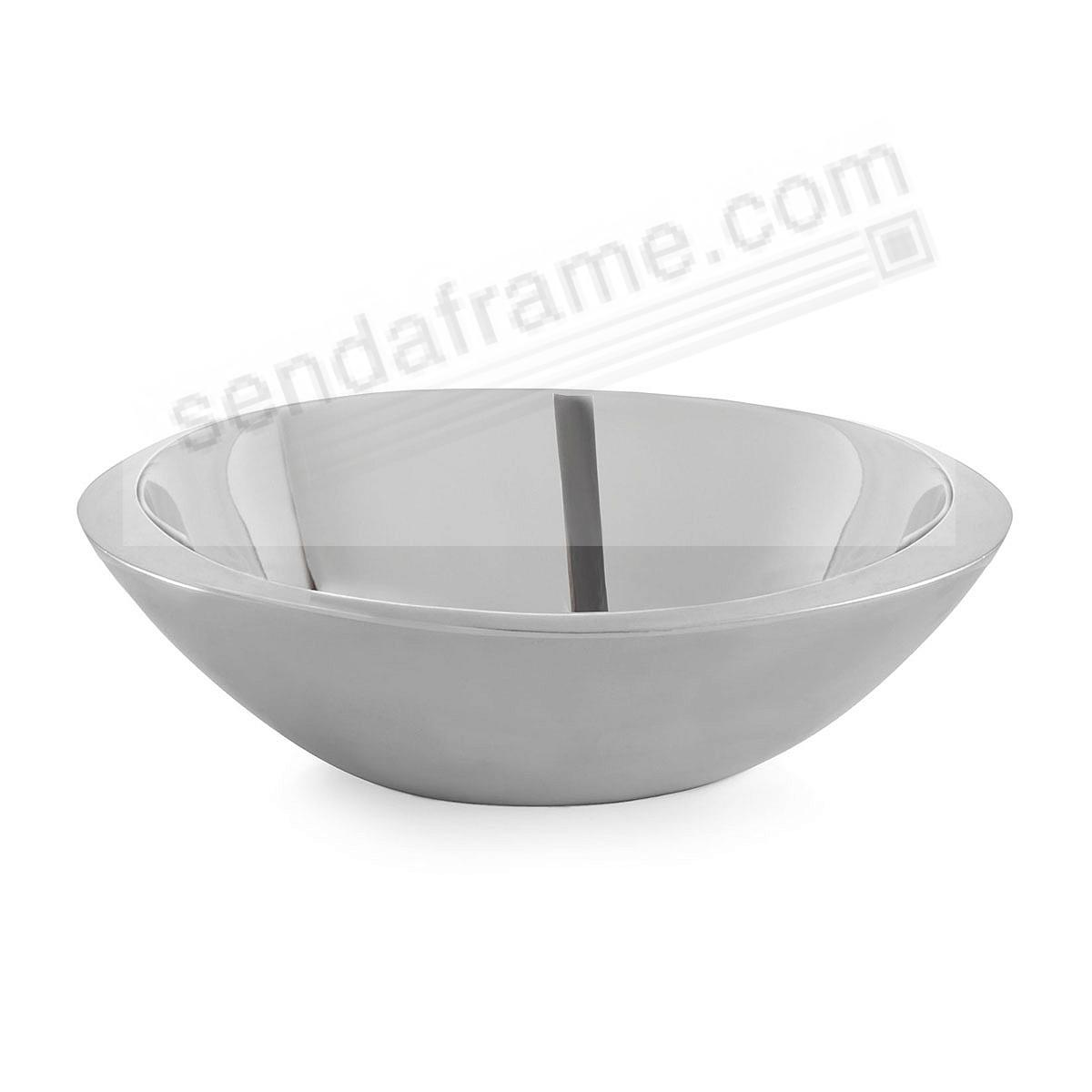 The ECLIPSE 12inch SERVING BOWL crafted by Nambe®