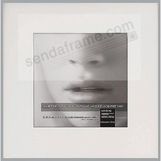 FINELINE Silver Aluminum 16x16/11x11 Matted by Framatic®