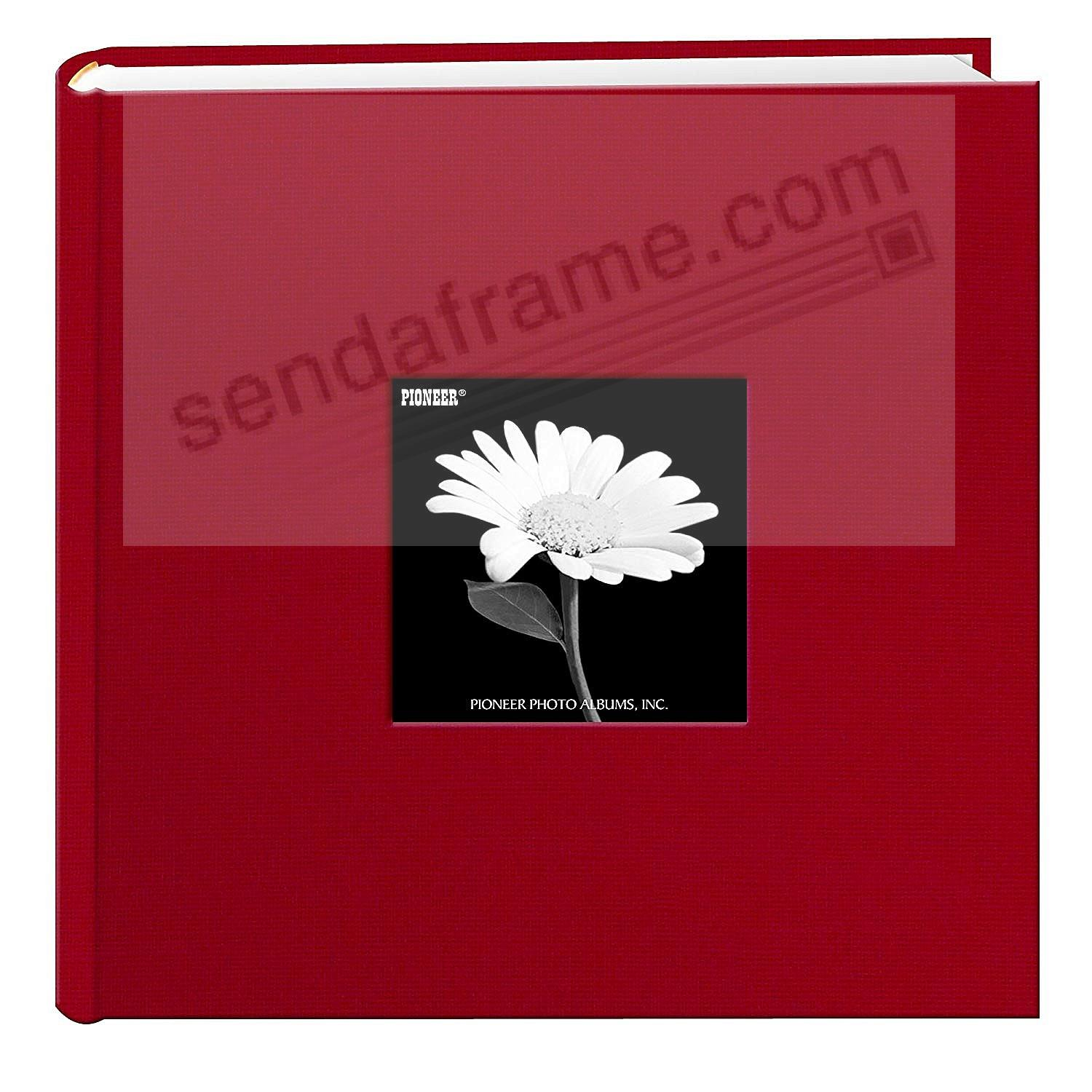 Apple-Red cloth 1-up frame photo album by Pioneer®