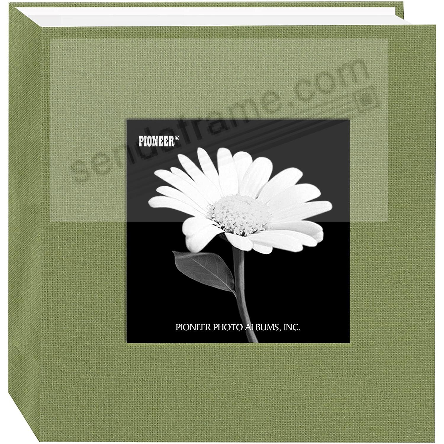 Sage-Green cloth 1-up frame photo album by Pioneer®