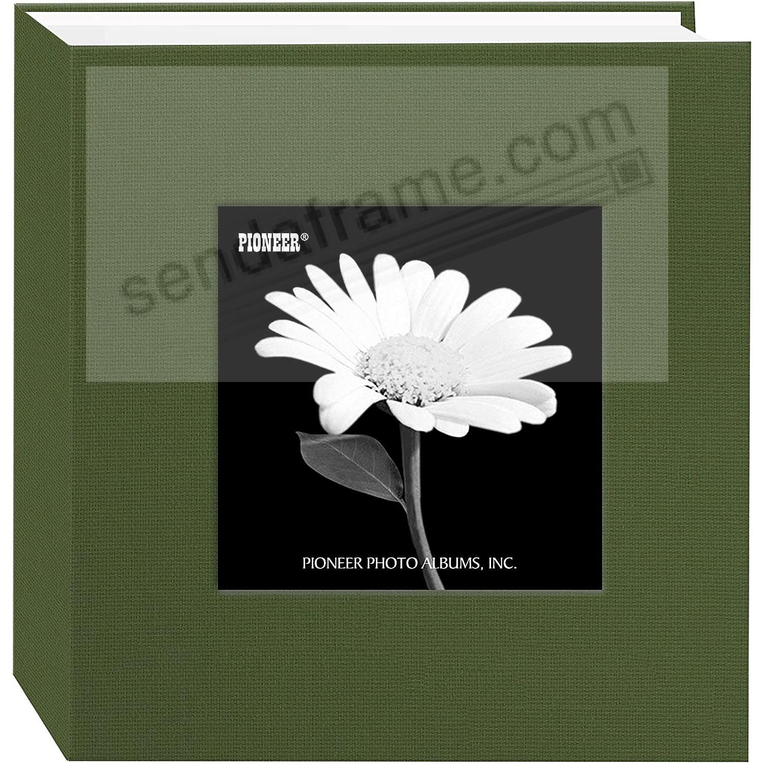 Herbal-Green cloth 1-up frame photo album by Pioneer®