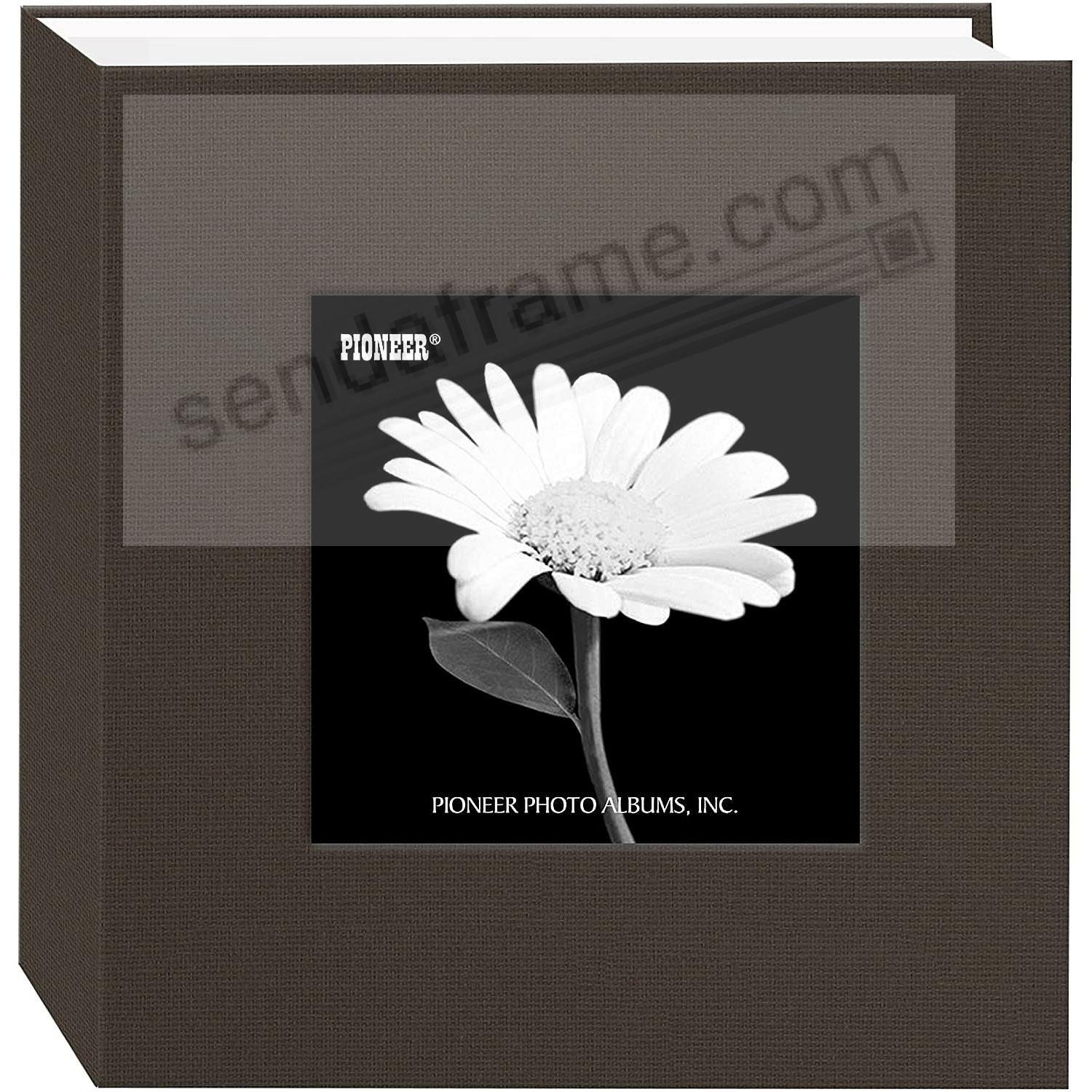Warm-Mocha cloth 1-up frame photo album by Pioneer®