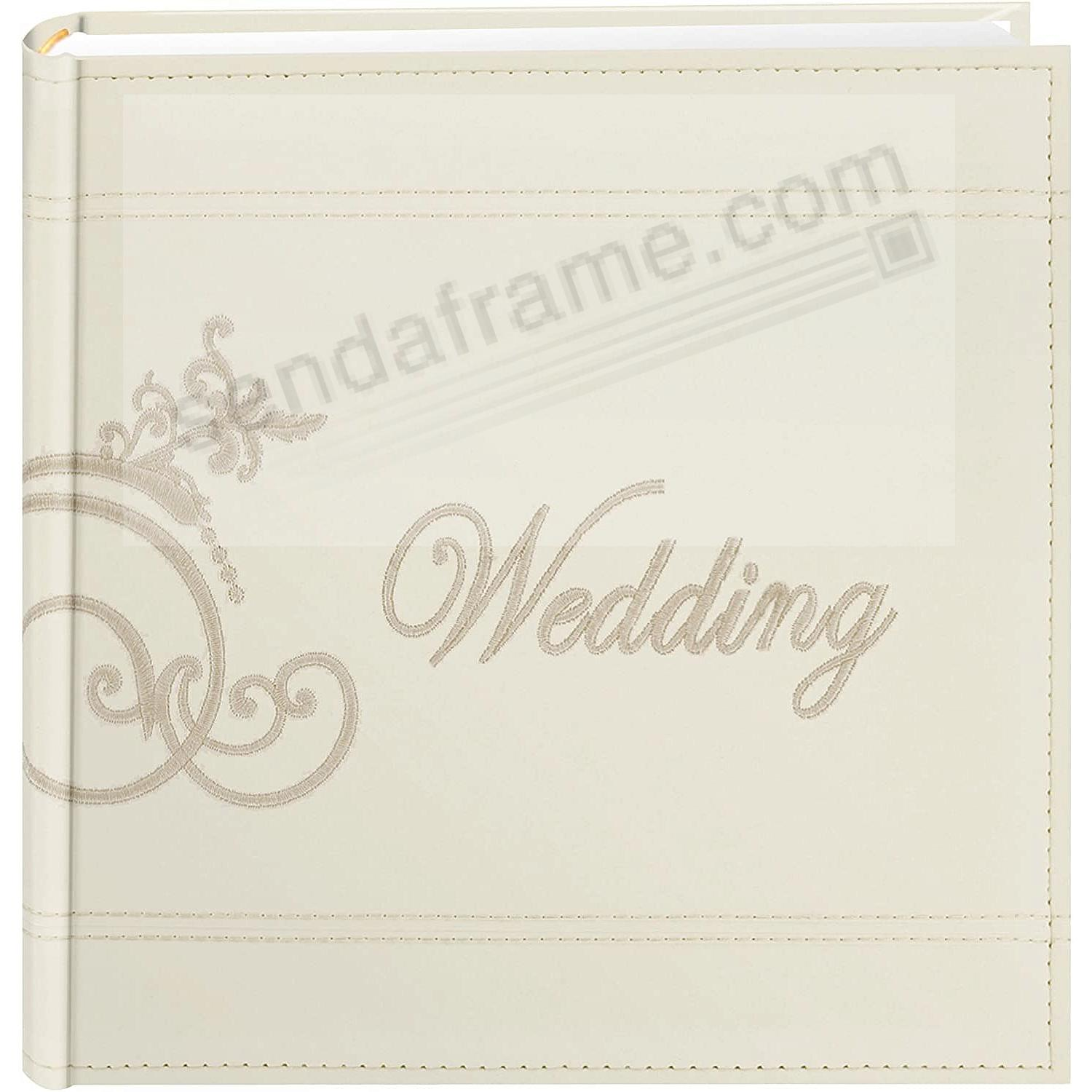 OUR WEDDING Embroidered Wedding Photo Album by Pioneer® holds 200 4x6 photos