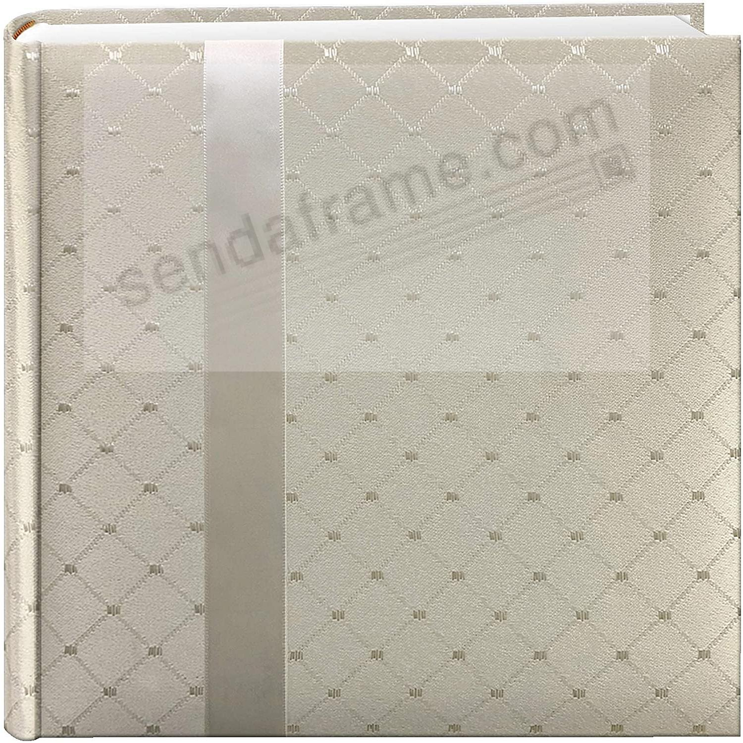 IVORY FABRIC RIBBON Photo Album by Pioneer® holds 200 4x6 photos